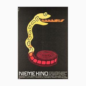 Affiche de Film Silent par Jerzy Flisak, 1976