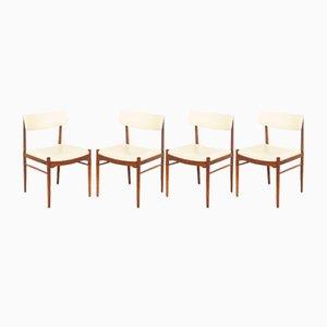 Esszimmerstühle mit Bezügen aus Skai von TopForm, 1960er, 4er Set