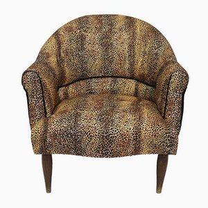 Butaca vintage con estampado de leopardo