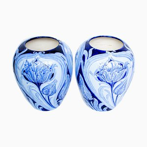 Antique Vases by William Moorcroft, 1900s, Set of 2