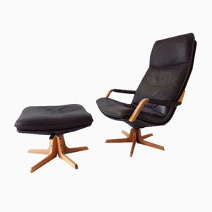 Lounge Chair with Ottoman from Berg Furniture, 1970s, Set of 2