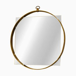 Brass Mirror from Fontana Arte, 1950s