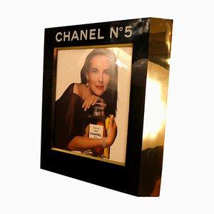 Expositor publicitario con lámpara para Chanel No. 5 de Chanel, años 80