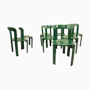 Green Dining Chairs by Bruno Rey for Dietiker, 1970s, Set of 8
