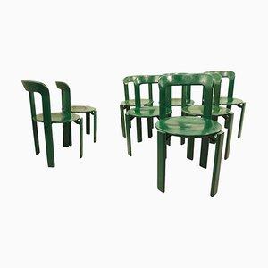 Grüne Esszimmerstühle von Bruno Rey für Dietiker, 1970er, 8er Set