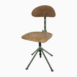 Czech Industrial Factory Desk Chair, 1950s