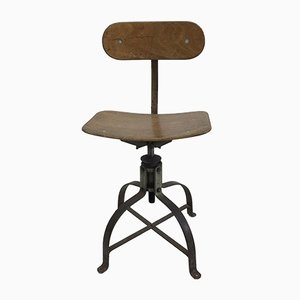 Französischer Modell 204 Schreibtischstuhl von Bienaise, 1950er