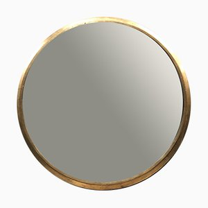 French Art Deco Giltwood and Bevelled Glass Mirror, 1940s