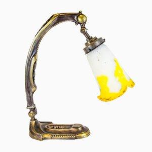 Antike Tischlampe von Muller Frères