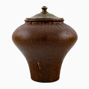 Stoneware Vase with Lid by Patrick Nordström for Royal Copenhagen, 1920s