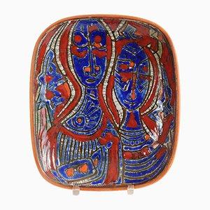 Wandteller aus Keramik von Milan Kicin, 1970er