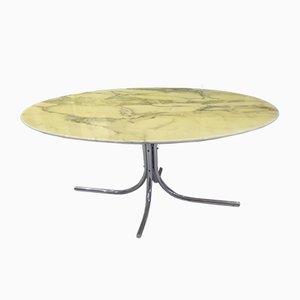 Esstisch mit Tischplatte aus Carrara Marmor, 1970er