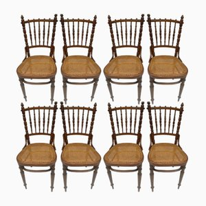 Antique Dining Chairs by Fischel for Fischel Niemes, Set of 8