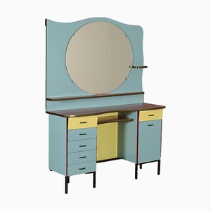 Vintage Italian Barber Dressing Table, 1960s