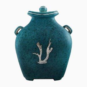 Jarrón Art Déco de cerámica de Wilhelm Kåge para Gustavsberg, años 40