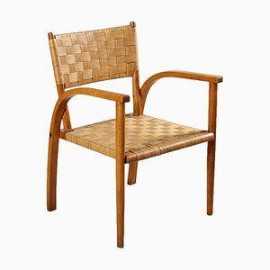 Vintage Italian Beech Side Chair, 1940s