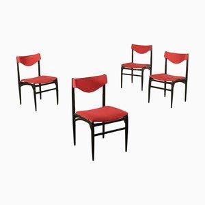 Italienische Beistellstühle, 1960er, 4er Set