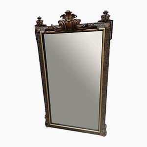 Antiker französischer Spiegel mit goldenem Rahmen, 1900er