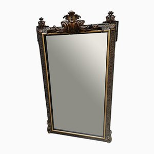 Espejo francés antiguo dorado, década de 1900