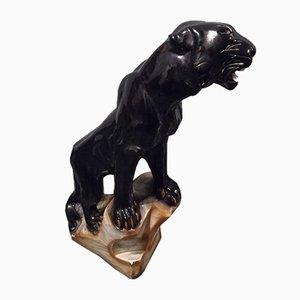 Panthère Noire en Céramique, 1960s