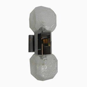 Lámpara de pared de vidrio, años 60