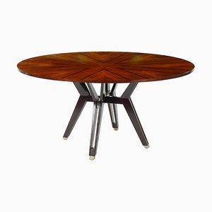 Tavolo da pranzo vintage impiallacciato in palissandro di Ico Luisa Parisi per MIM