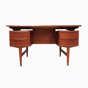 Danish Teak Double-Sided Desk, 1970s