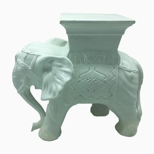 Italienischer Mid-Century Gartenhocker oder Esstisch aus Keramik in Elefanten-Optik, 1960er