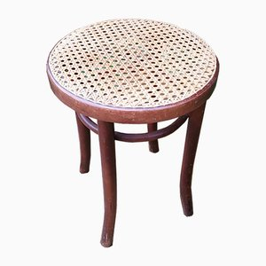 Bentwood & Cane Stool from Motif and Dinette, 1960s