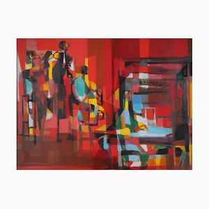 New Orleans Jazz Band Painting by Marcel Mouly