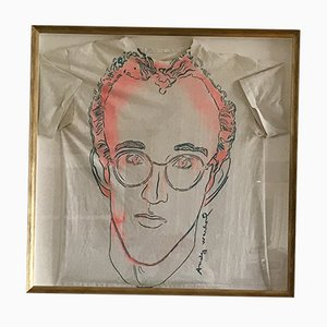 Keith Haring Silkscreen by Andy Warhol, 1986
