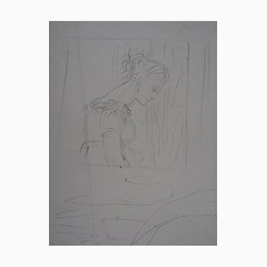 Dessin The Theatre, Spectator and Saint George par Edgar Degas