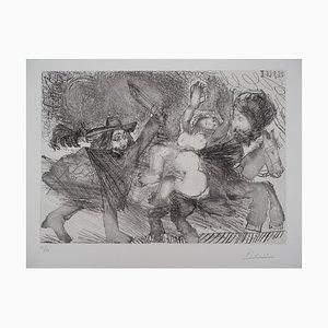 Frau, Mamelouk und Musketier Radierung von Pablo Picasso
