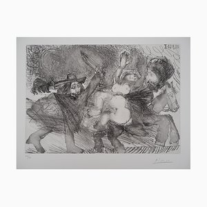 Woman, Mamelouk and Musketeer Etching by Pablo Picasso