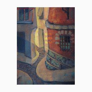 Old Street at Ibdes Gemälde von Louis Toffoli