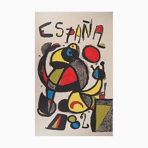 España 82 Lithograph by Joan Miro, 1982