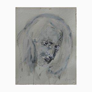 Porträt eines Mannes Tinte und Aquarell Skizze von Philippe Pasqua
