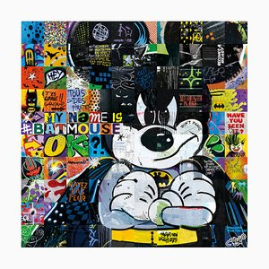 My name is Batmouse Relief Mosaic by ARY KP