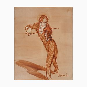 Violin, The Soloist Oil Painting by Claude Weisbuch