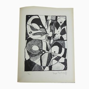 Lithograph by Serge Poliakoff, 1946