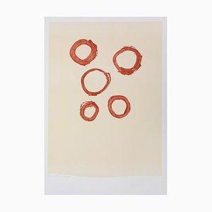 Litografía Five Circles de Robert Motherwell, 1972