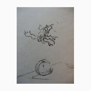 Sleeping Apple Lithograph by Alberto Giacometti