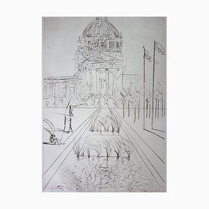 San Francisco: City Hall Engraving by Salvador Dali