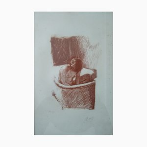 The Bath Lithograph by Pierre Bonnard