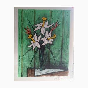 Bouquet of Daffodils Lithograph by Bernard Buffet, 1986