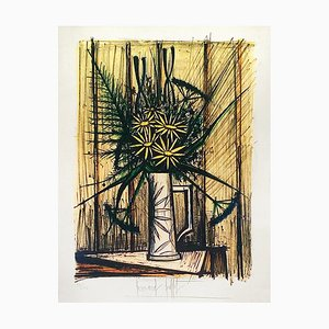 Daisies and Irises Lithograph by Bernard Buffet