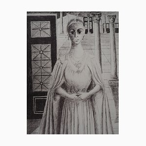 The Empress Lithograph by Paul Delvaux