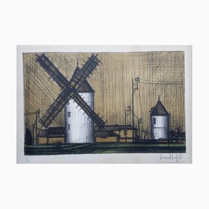 Les Moulins Lithograph by Bernard Buffet, 1953