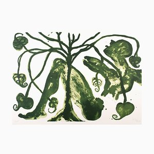 Litografia Take a Green Breath di Barthélémy Toguo, 2017