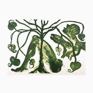 Take a Green Breath Lithograph by Barthélémy Toguo, 2017